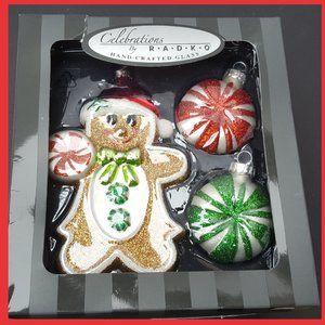 Christopher Radko Gingerbread Candy Santa Ornament